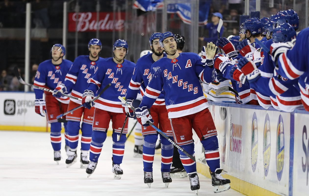 Alternate captain Chris Kreider and the Rangers celebrated often Saturday. (Getty Images)