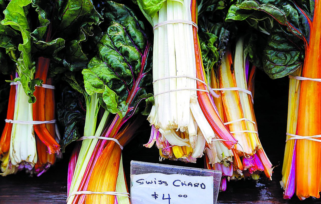 Colorful swiss chard for sale in 2015 at the Farmers Market in East Aurora. (Mark Mulville/News file photo)