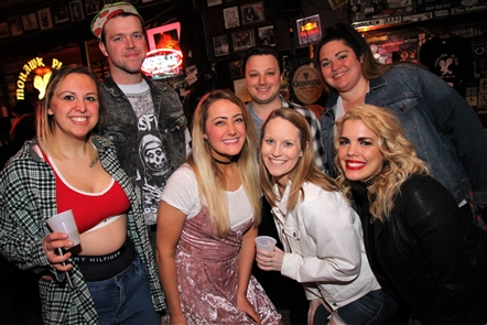 New York City-based cover band Saved by the '90s, which - as you might suspect - plays the music of '90s bands like the Goo Goo Dolls, Len, Alanis Morissette and a slew of boy bands, serenaded Mohawk Place on Friday, March 16, 2018.