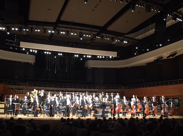 The Buffalo Philharmonic Orchestra takes a bow at Wroclaw's National Forum For Music. Photo courtesy of Daniel Hart.