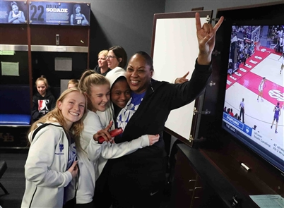 UB women celebrate NCAA Tournament