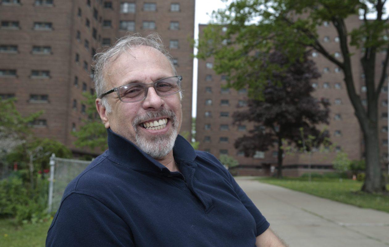 Joseph Mascia, who was kicked off the Buffalo Municipal Housing Authority board in 2015 over racist comments, at Marine Drive Apartments in Buffalo, on May 18, 2015. (John Hickey/Buffalo News)