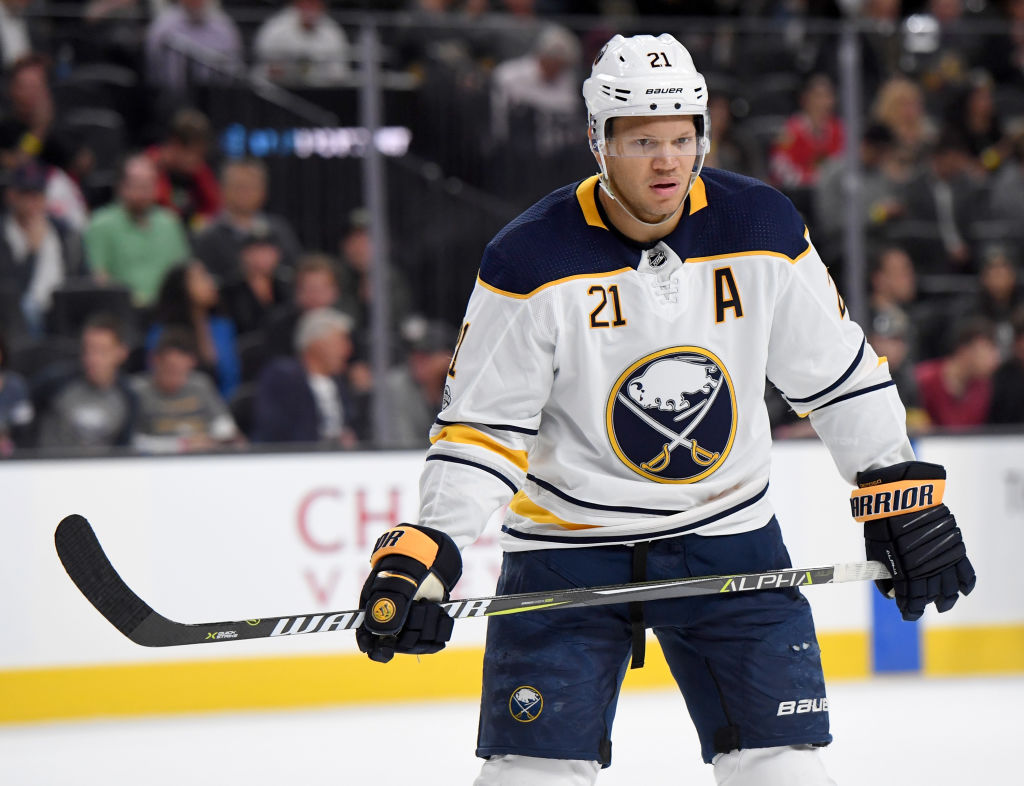 Kyle Okposo is the Sabres' Masterton Trophy nominee (Getty Images).