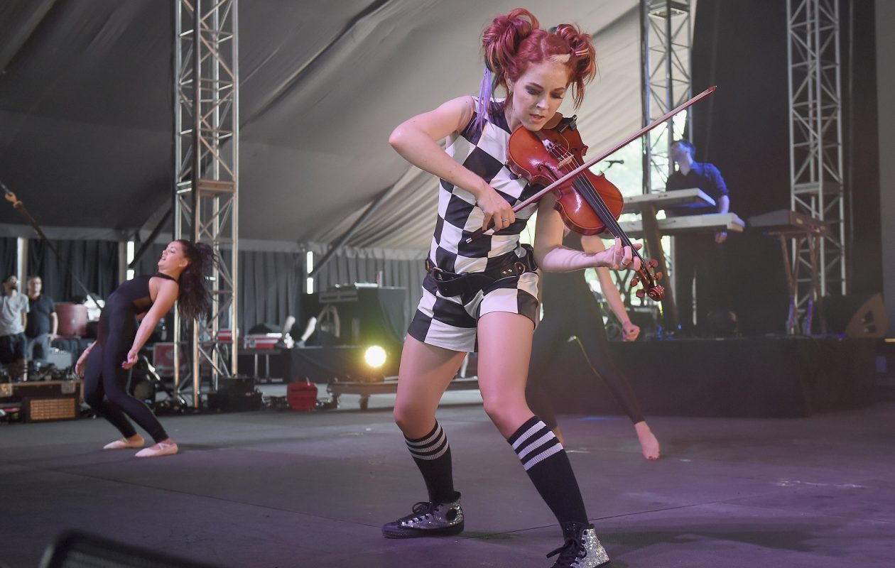 Lindsey Stirling, pictured performing in July 2016 in New York City, has announced a return to Artpark. (Nicholas Hunt/Getty Images)