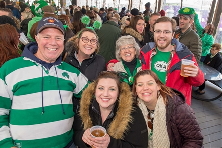 Buffalo Irish band McCarthyizm was joined on Live at O'Larkin's music lineup by the Greater Buffalo Firefighters Pipes and Drums, and the Rince Na Tiarna Irish dancers, in Larkin Square on Friday, March 16, 2018.