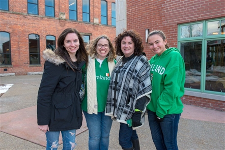 Buffalo Irish band McCarthyizm was joined on Live at O Larkin's music lineup by the Greater Buffalo Firefighters Pipes and Drums, and the Rince Na Tiarna Irish dancers, in Larkin Square on Friday, March 16, 2018.