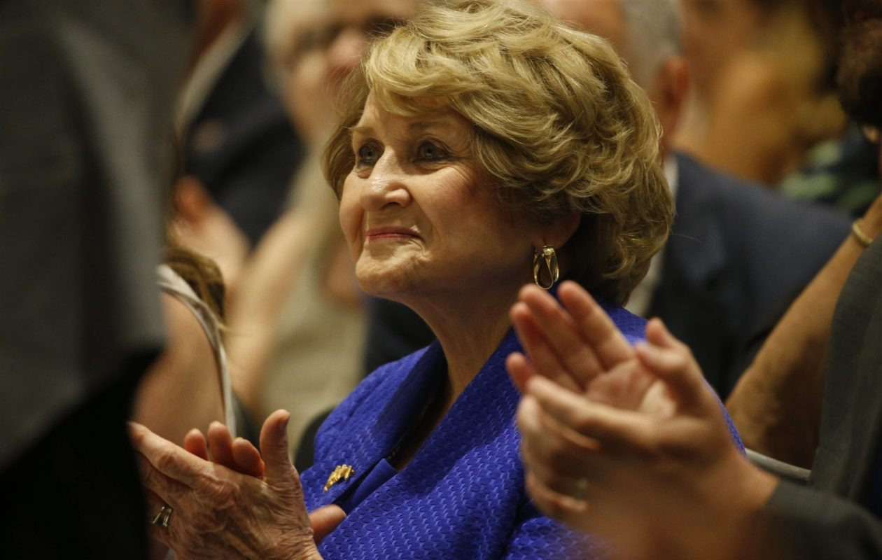Rep. Louise Slaughter attends the New York delegation breakfast at the Democratic National Convention in Philadelphia on Tuesday, July 26, 2016. (Derek Gee/Buffalo News)
