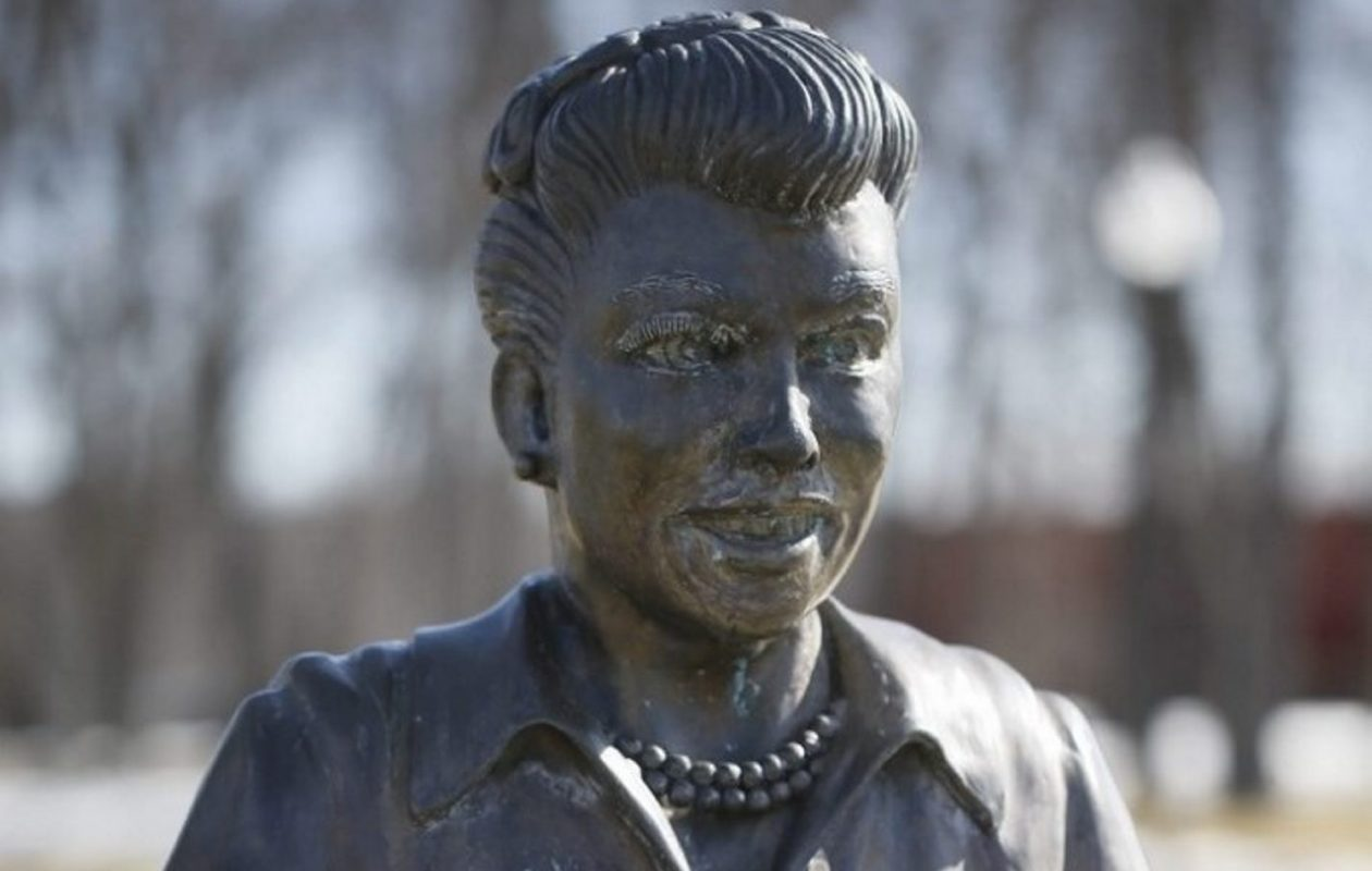 This statue of Lucille Ball was dubbed 'Scary Lucy' when it was unveiled in 2015. (News file photo)