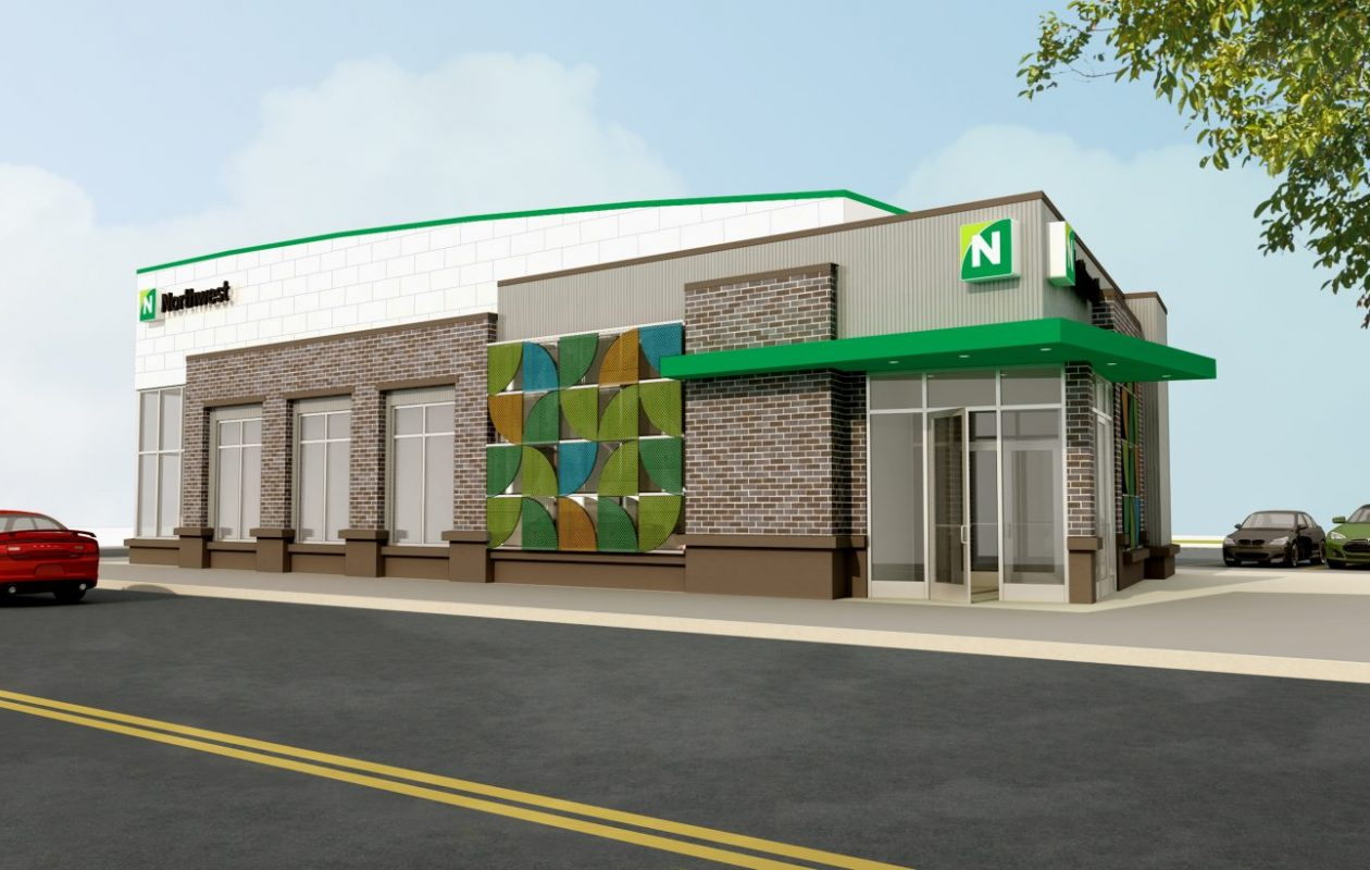 This is a rendering of the proposed Northwest Bank branch on Jefferson Avenue.