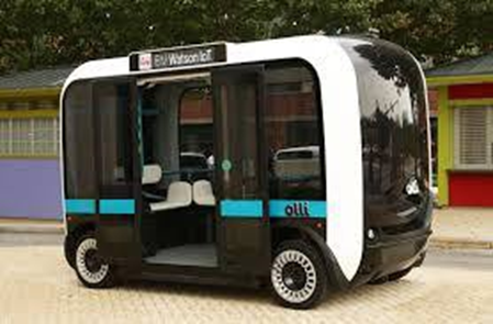 Olli the driverless bus. (Photo courtesy of Local Motors)