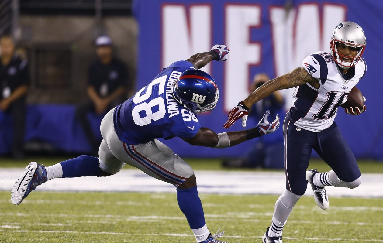 Former Giants defensive end Owa Obdighizuwa worked out for the Bills.. (Getty Images)