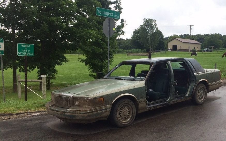 Deputies responding to a 'suspicious vehicle' report in July 2017 found this car and Jared T. Price, who they said  appeared to be under the influence of drugs. (Photo from Wyoming County Sheriff's Office)