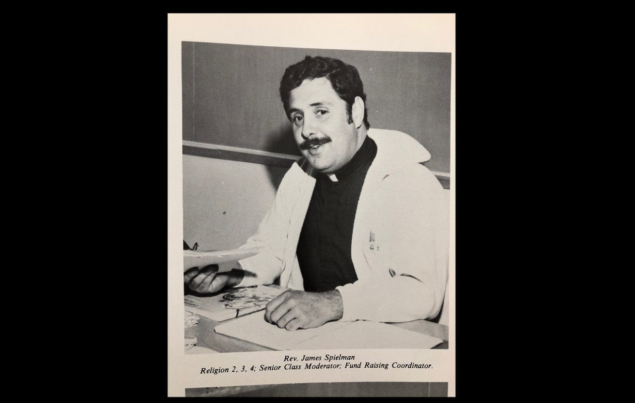 A photo of the Rev. James A. Spielman from the 1981 yearbook of Archbishop Walsh High School in Olean, where Spielman taught religion classes. Spielman was accused of sexually abusing a teenage boy in a lawsuit that the Catholic Diocese of Buffalo paid $1.5 million to quietly settle in 2016,