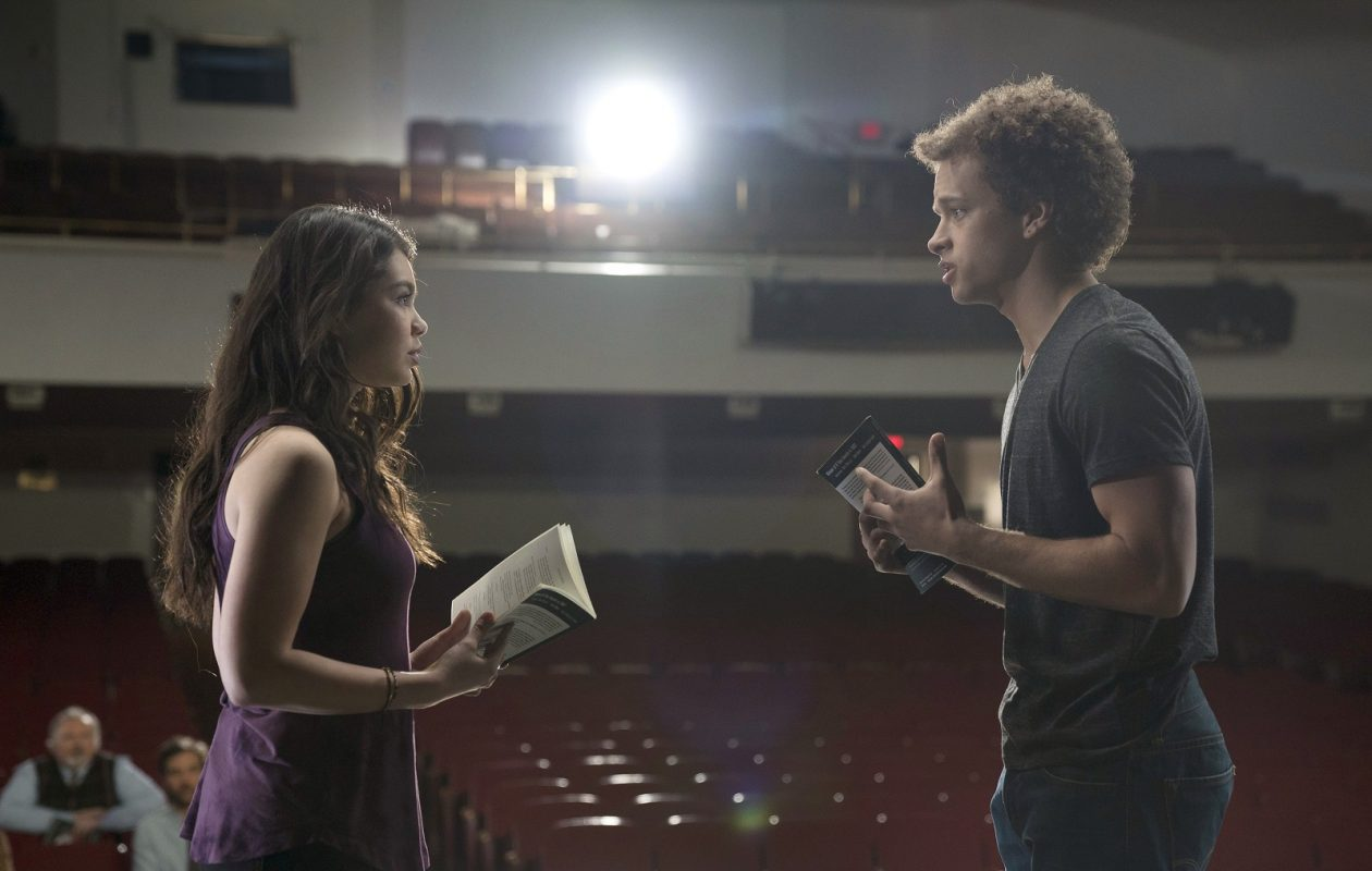 Auli'i Cravalho, left, and  Damon J. Gillespie star in the new NBC high school musical drama 'Rise.' (Photo by Peter Kramer/NBC)