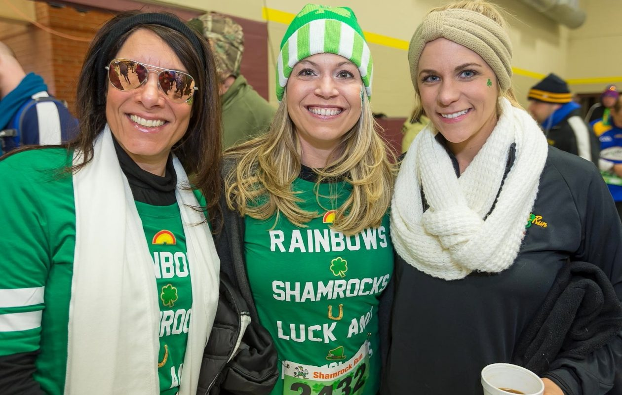Smiling faces at the 2017 Shamrock Run, which celebrates its 40th anniversary on Saturday. (Don Nieman/Special to The News)