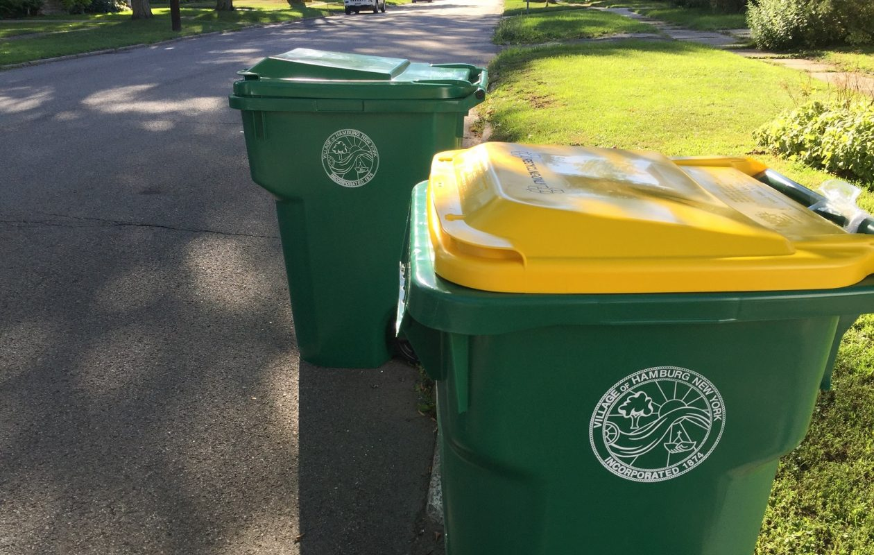 Cheektowaga officials are concerned that their garbage totes, like these in Hamburg, are not being used properly by residents.