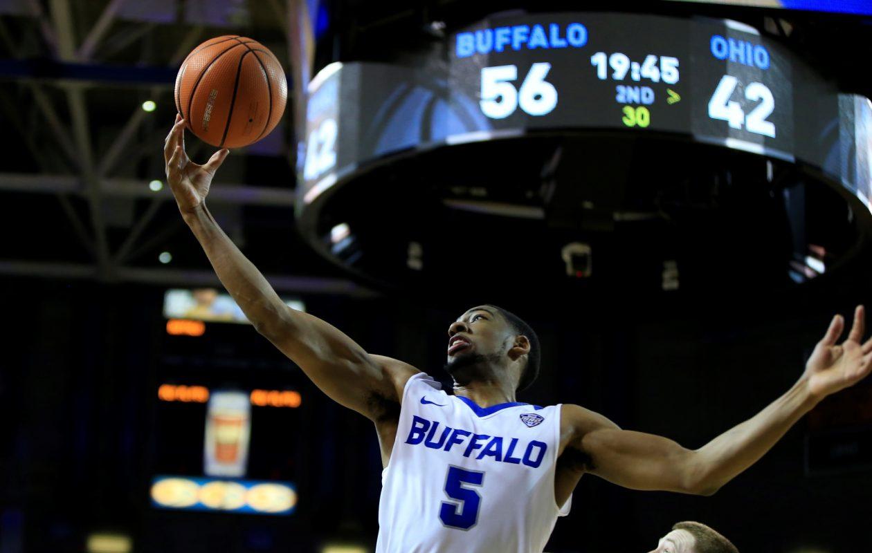 University at Buffalo's CJ Massinburg will head to the NCAA Tournament. (Harry Scull Jr./Buffalo News)