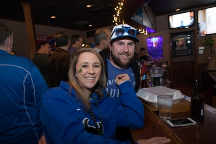 University at Buffalo men's basketball fans roamed to Amherst to watch the Bulls take on Kentucky in the second round of the NCAA Tournament on Saturday, March 17, 2018.