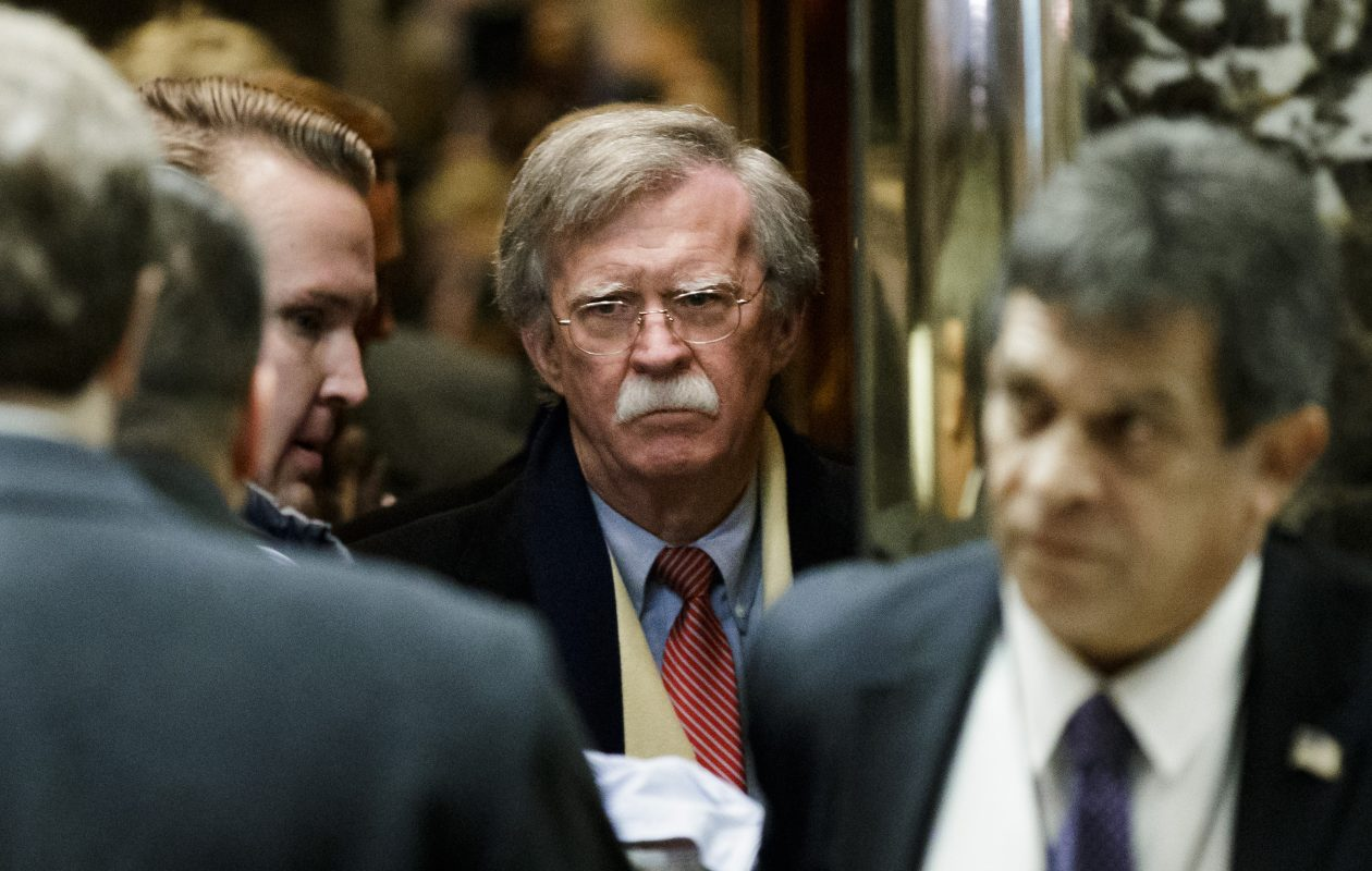 Kim Kye Kwan, a North Korea vice foreign minister, rejected the Trump  administration's demand that it quickly dismantle its nuclear program as Libya did 15 years ago, singling out John Bolton, Trump's new national security adviser, center, for condemnation. (Abaca Press/TNS)