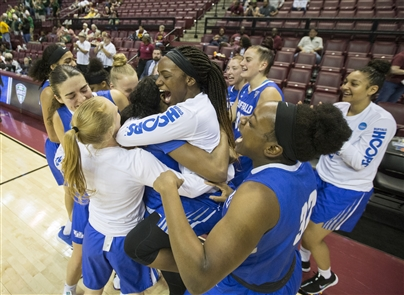 The University at Buffalo recorded its first NCAA Tournament win in school history in dominating fashion.