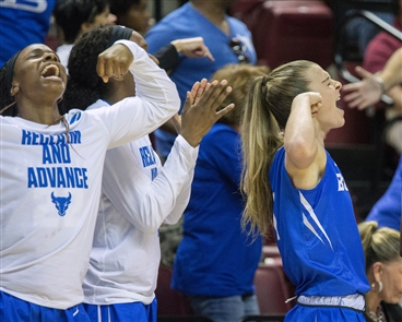 The University at Buffalo made it two stunning victories in the NCAA women's basketball tournament by knocking off nationally ranked Florida State.