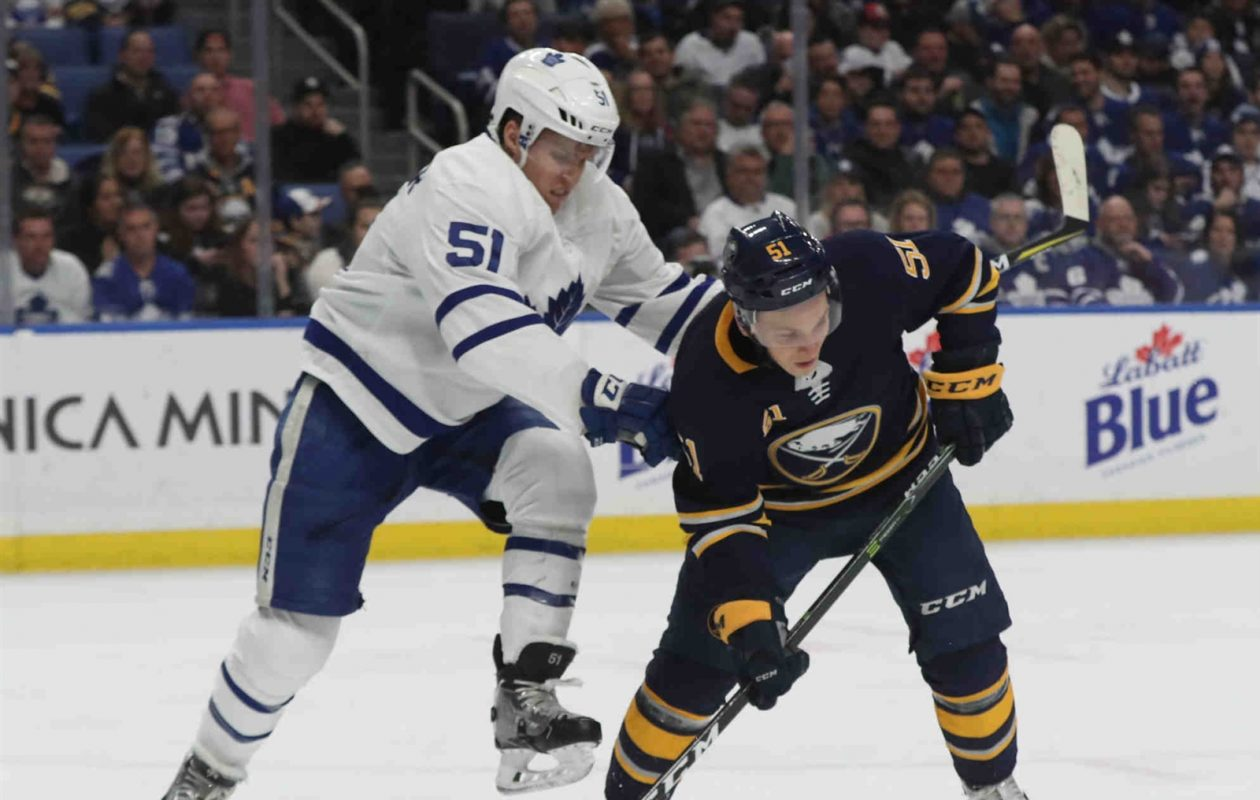 Kyle Criscuolo was the first major injury of the week for the Sabres. (James P. McCoy/News file photo)
