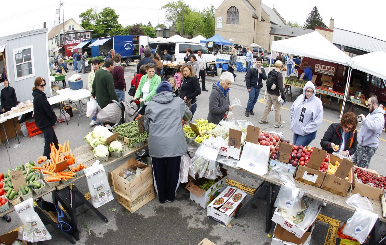 A May 11, 2013 view of the North Tonawanda Farmers' Market. (Harry Scull Jr./Buffalo News)