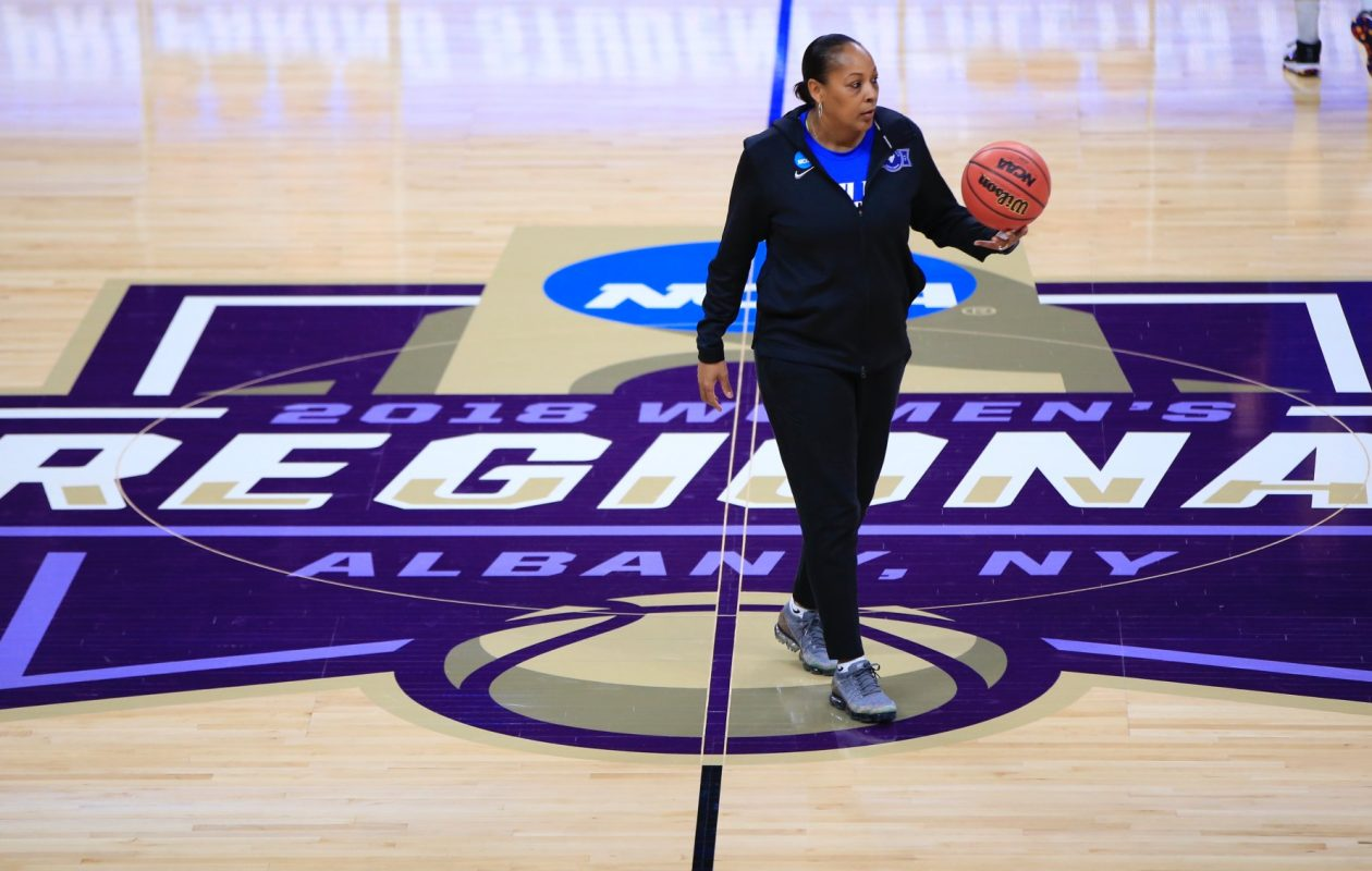 Buffalo coach Felisha Legette-Jack has her team playing with 'focused fun' in the NCAA Tournament. (Harry Scull Jr./Buffalo News)