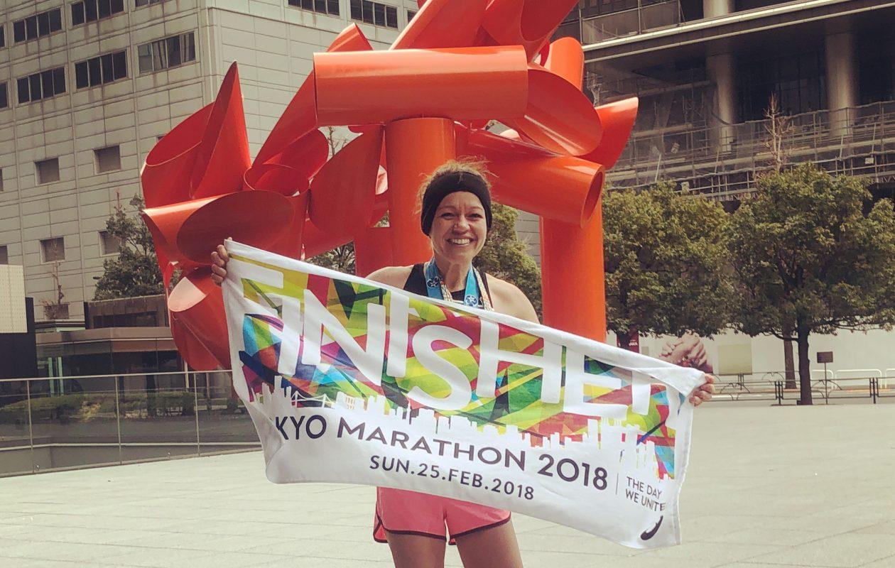 Brooke Adams ran the Tokyo Marathon to complete the World Marathon Majors. (Photo submitted)