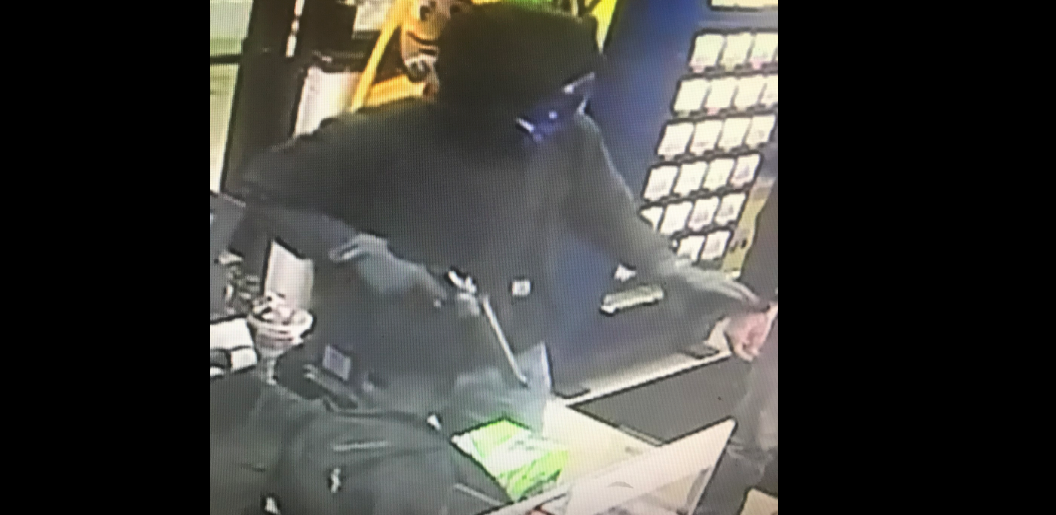 Jamestown police released this image of a suspect in a gas station robbery early Tuesday. (Jamestown Police Department)