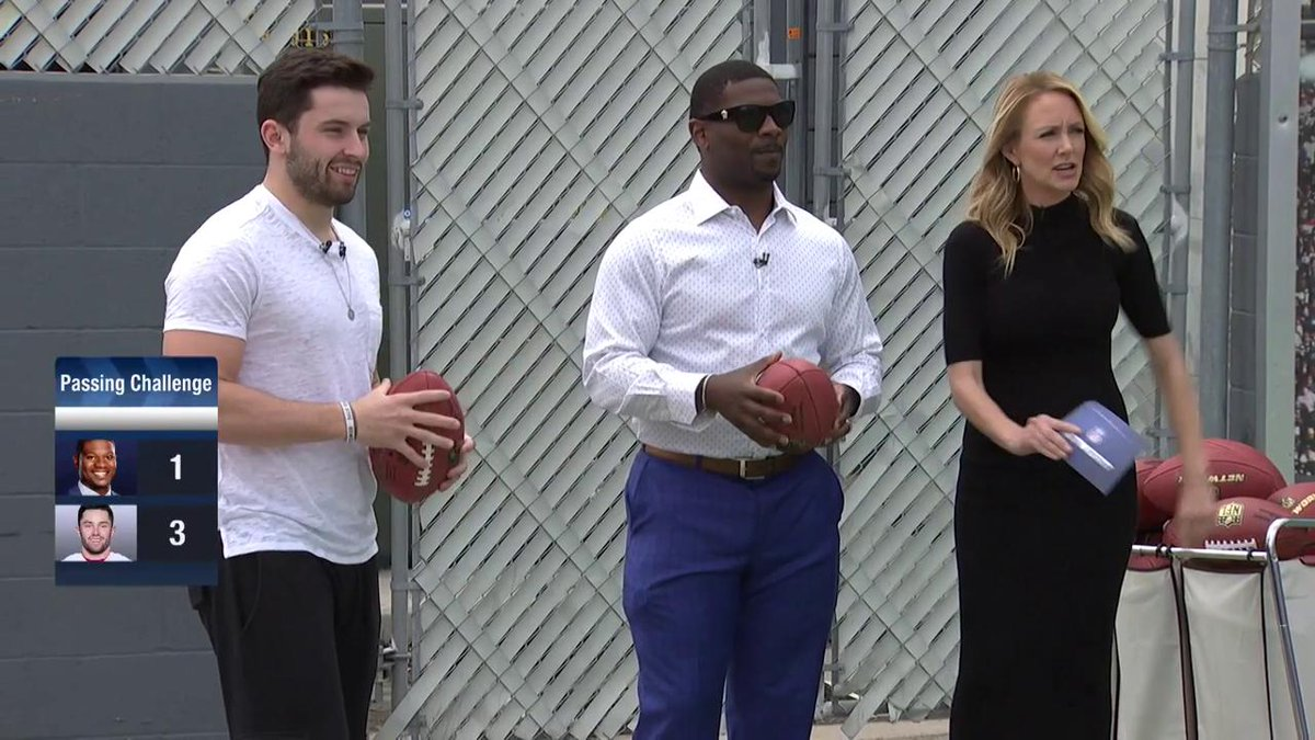 Baker Mayfield takes the NFL Network's Passing Accuracy Challenge (screenshot)