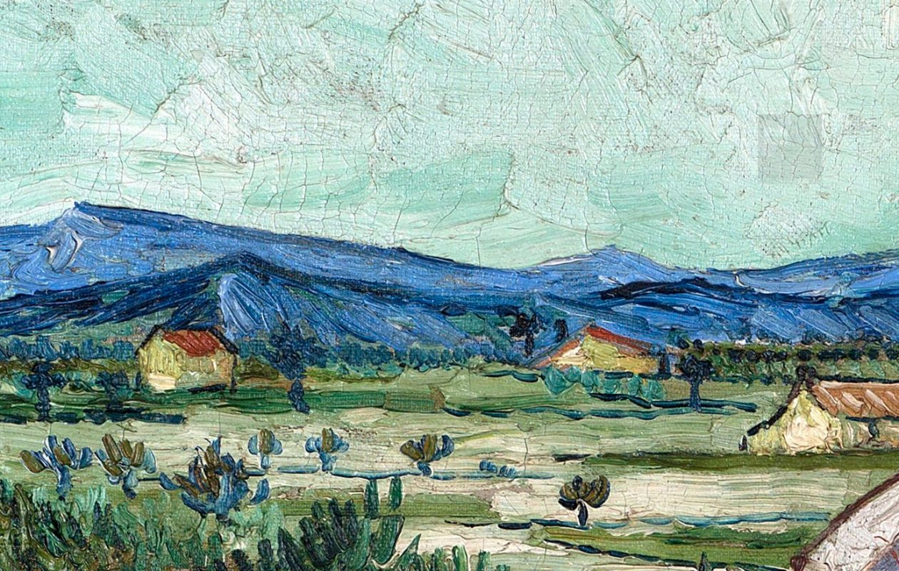 A detailed view of Vincent Van Gogh's 1888 painting 'La maison de La Crau (The Old Mill)' is possible through Google's collaboration with the Albright-Knox Art Gallery.