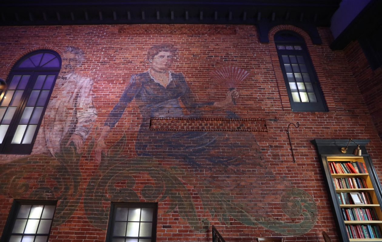 On one of the walls at Buffalo's Rowhouse Bakery and Restaurant is a large mural of Francis Folsom, who was married to Grover Cleveland and was the youngest first lady ever. She lived on Edward Street in Buffalo for a time. (Sharon Cantillon/News file photo)