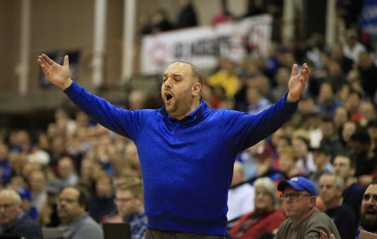 After roaming the sideline as coach for Williamsville South for six seasons, Gabe Michael is moving on to St. Joe's. He succeed the recently retired Mark Simon. (Harry Scull Jr./Buffalo News)