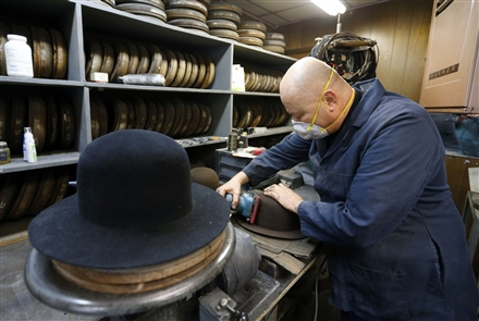 Master hatter Gary Witkowski -- who is known professionally as Gary White -- builds custom-made hats in a humble shop on Buffalo's East Side. He was photographed at his shop on Wednesday, April 4, 2018.