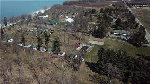 The Niagara Shores Campground formerly known as Niagara Bible Conference retreat center is being converted into an all-inclusive resort on the shore of Lake Ontario by Ernie Ramstetter and David Muscoreil. The 35-acre site is at 6423 East Lake Road east of Olcott.