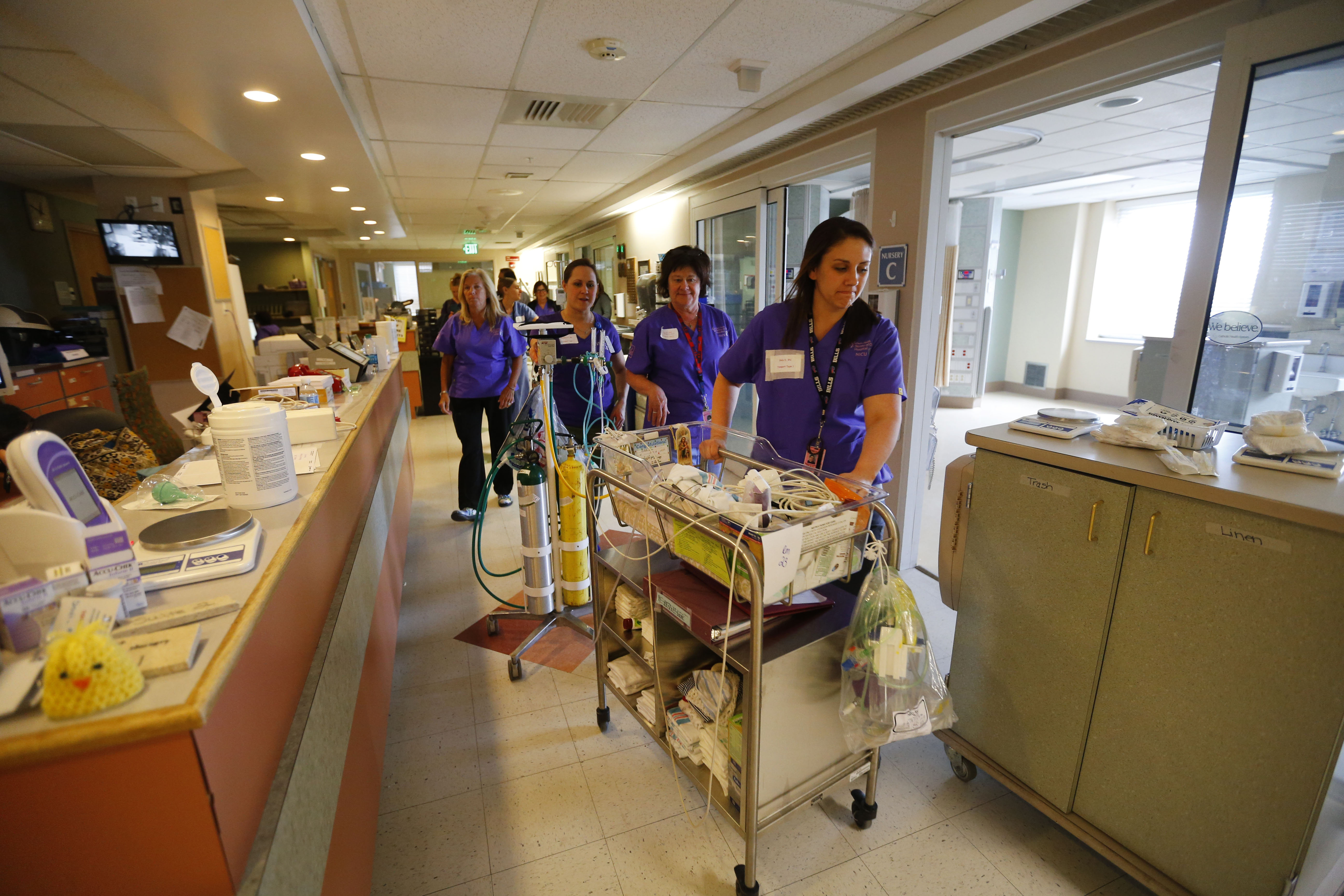 On Tuesday, April 24, 2018, babies and health care staff moved into the new neonatal intensive care unit at Sisters Hospital.