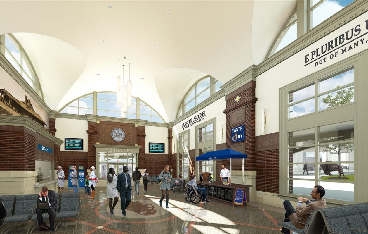A rendering of the proposed station.
