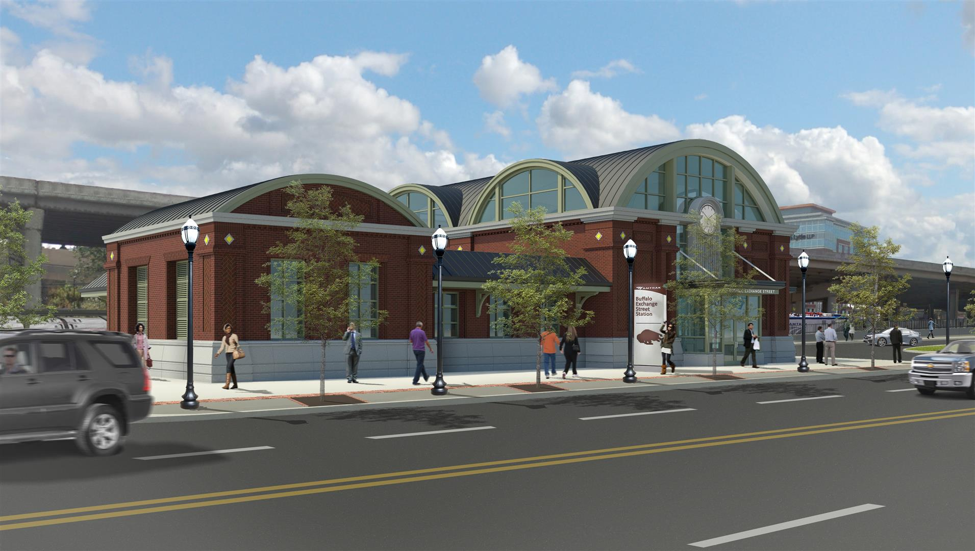 The state Department of Transportation released renderings on Monday, April 16, 2018, of Buffalo's new downtown train station.