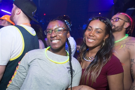 Touring laser light party with DJ Cookie Monsta invaded Buffalo on Friday, April 20, 2018, in VENU in the Chippewa District. See the assortment of partiers who reveled in the theme.