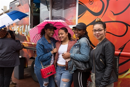 After missing April 17 due to inclement weather, Larkin Square's Food Truck Tuesday returned with vigor on Tuesday, April 24, 2018. See who braved the drizzle for some mobile eats.