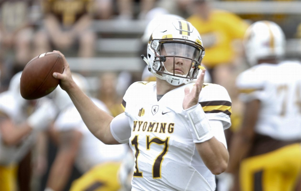 Wyoming's Josh Allen has the strongest arm of any quarterback in the 2018 NFL Draft, but just how much does that mean? (Getty Images)