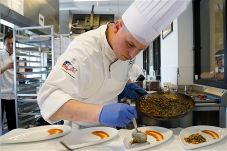 Students and professionals each have one hour to create the perfect dish at the American Culinary Federation sanctioned cooking competition at the Niagara Falls Culinary Institute on Sunday, April 22, 2018.