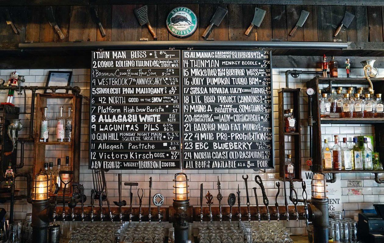 The beer list at Allen Burger Venture. (Dave Jarosz)