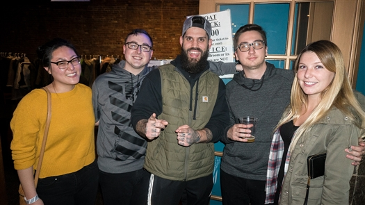 English emo pop-punk band Moose Blood attracted fans to Buffalo on Tuesday, April 17, 2018, in the Town Ballroom. See the fans and some shots of the band.