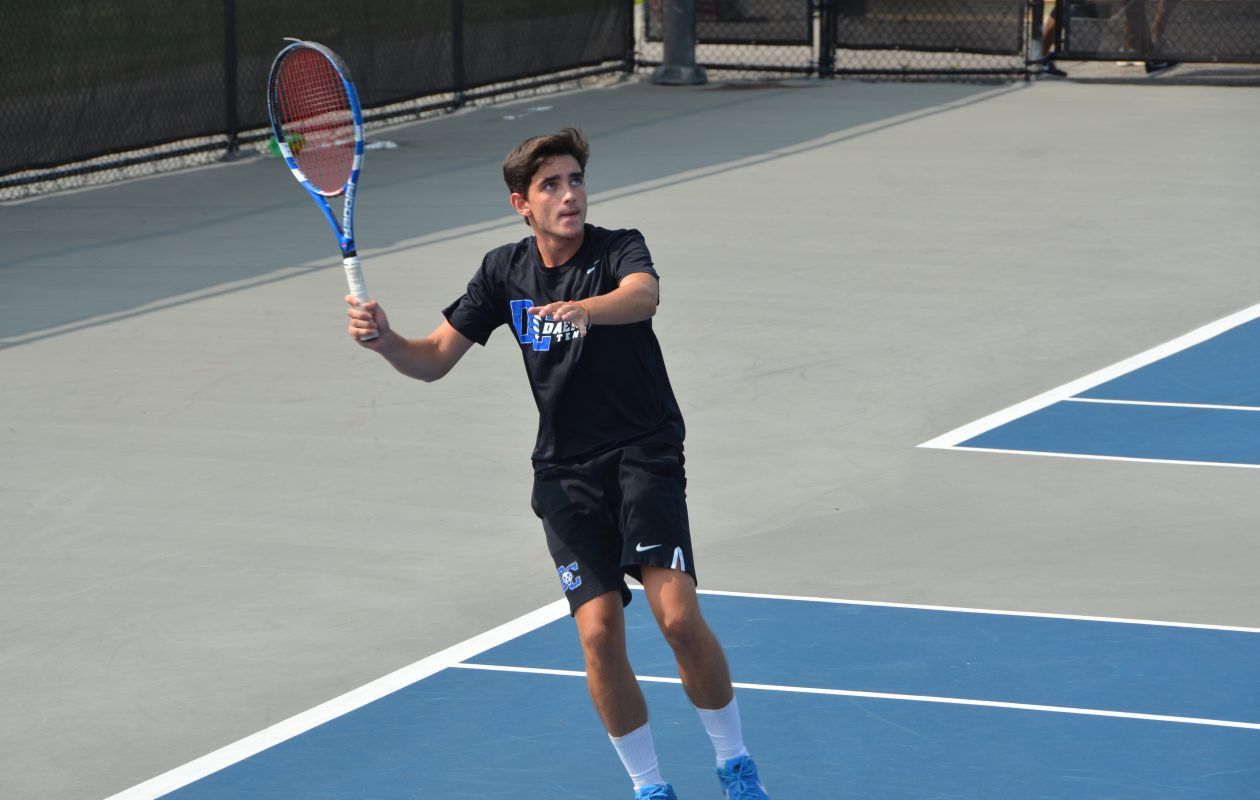 Ricardo Ruiz Martinez set the Daemen men's tennis record for singles victories in a season this week. (Photo courtesy of Daemen Athletics)