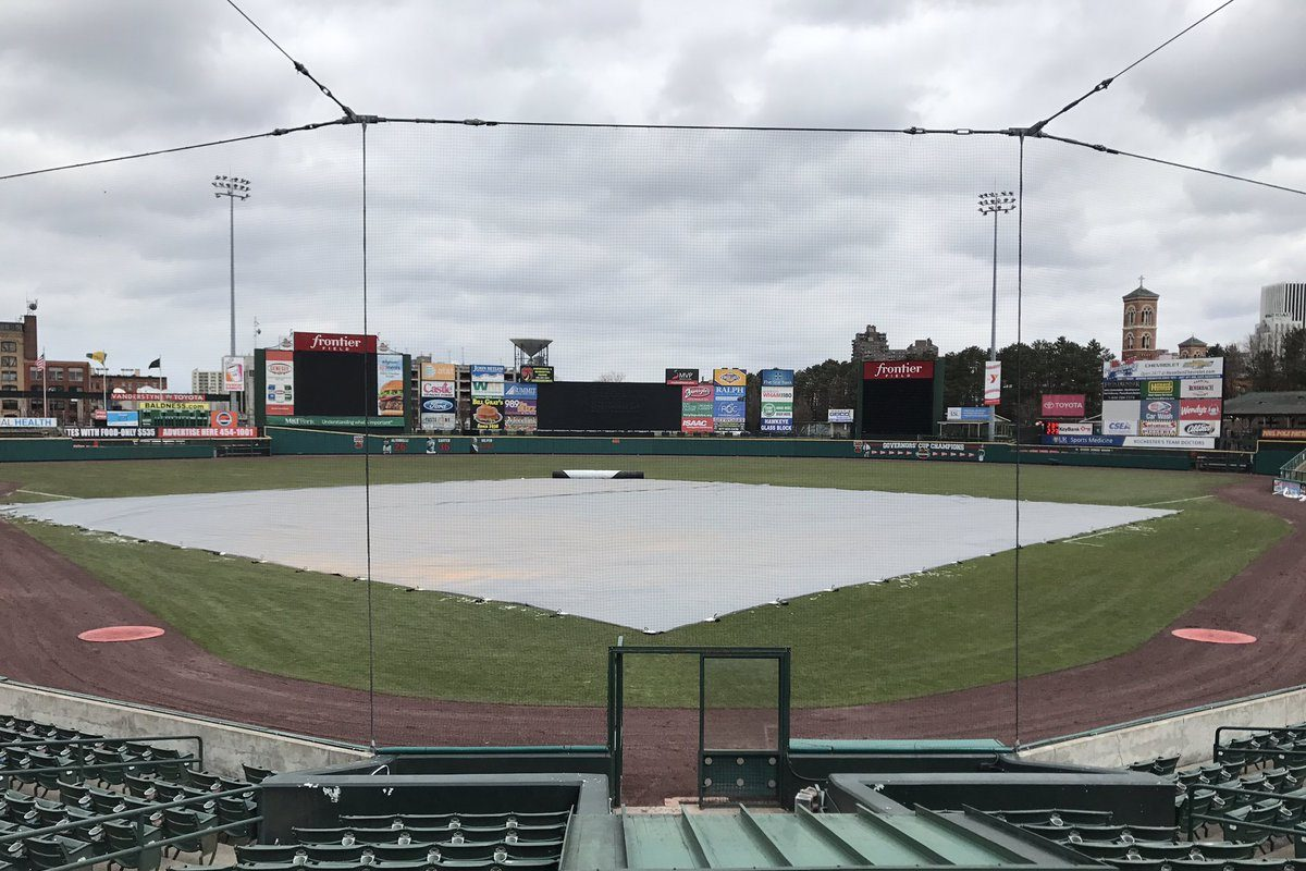 Frontier Field in Rochester Saturday where the Red Wings opener  vs. Bisons was  cancelled by the weather. (Harry Scull Jr./Buffalo News)