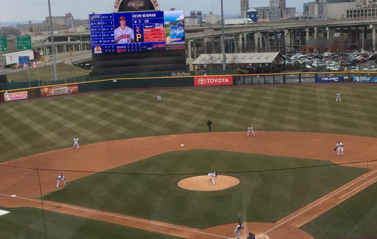 The Bisons open their 2018 home season. (Mike Harrington/Buffalo News)