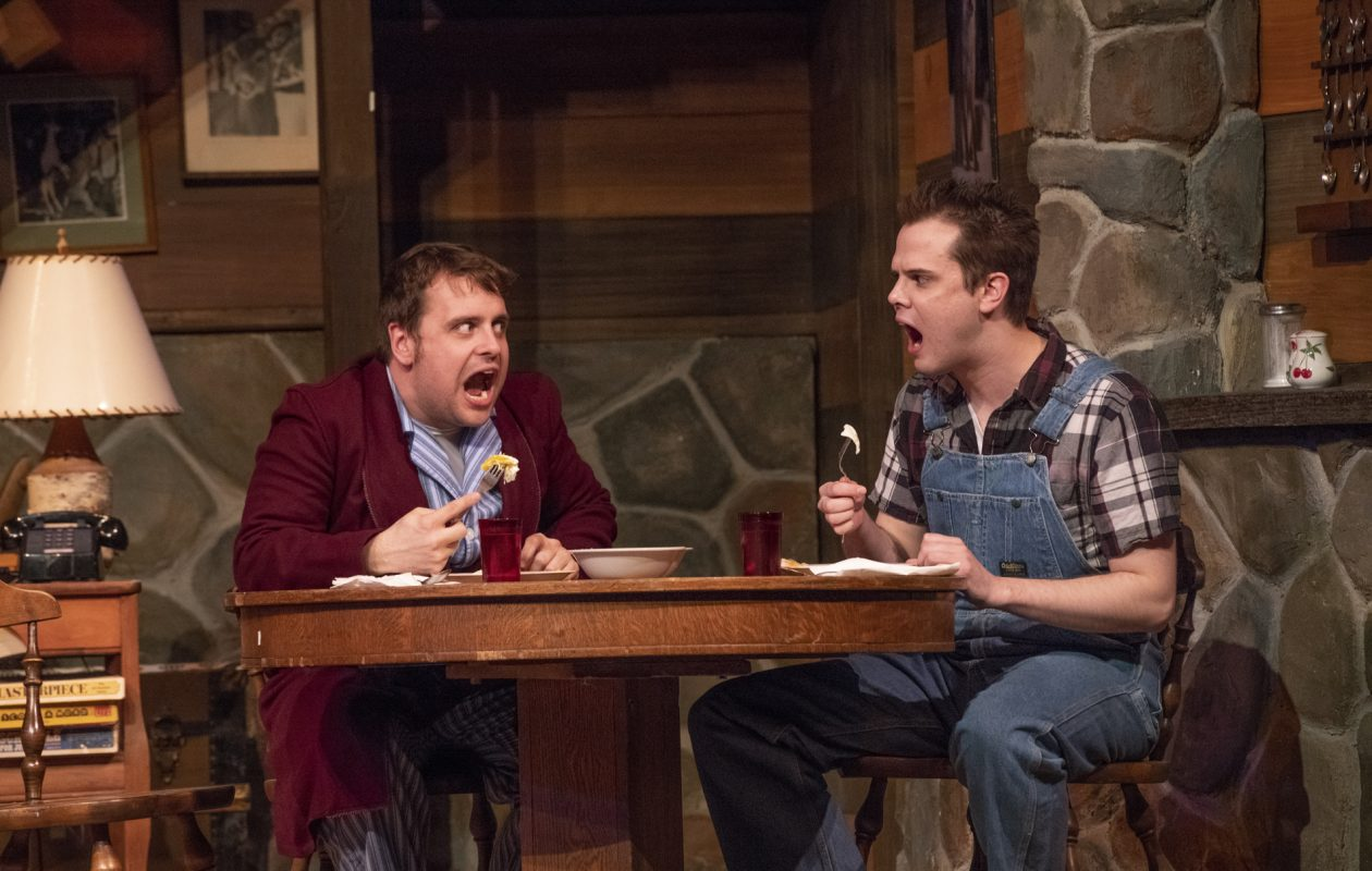 Kevin Craig, left, and Dan Urtz appear in the Kavinoky Theatre's production of 'The Foreigner.'