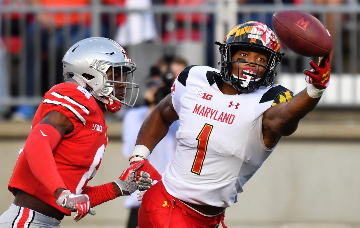 D.J. Moore of the Maryland Terrapins  (Jamie Sabau/Getty Images)
